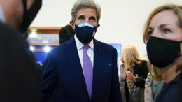 John Kerry, United States Special Presidential Envoy for Climate, departs after attending a keynote address by Secretary of State Antony Blinken at the Organization for Economic Cooperation and Development's Ministerial Council Meeting, Tuesday, Oct. 5, 2021, in Paris. (AP Photo/Patrick Semansky, Pool)