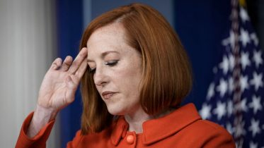 WASHINGTON, DC - OCTOBER 12: White House Press Secretary Jen Psaki pauses while speaking during the daily press briefing at the White House October 12, 2021 in Washington, DC. Earlier on Tuesday, President Joe Biden met virtually with G20 leaders to discuss Afghanistan. (Photo by Drew Angerer/Getty Images)