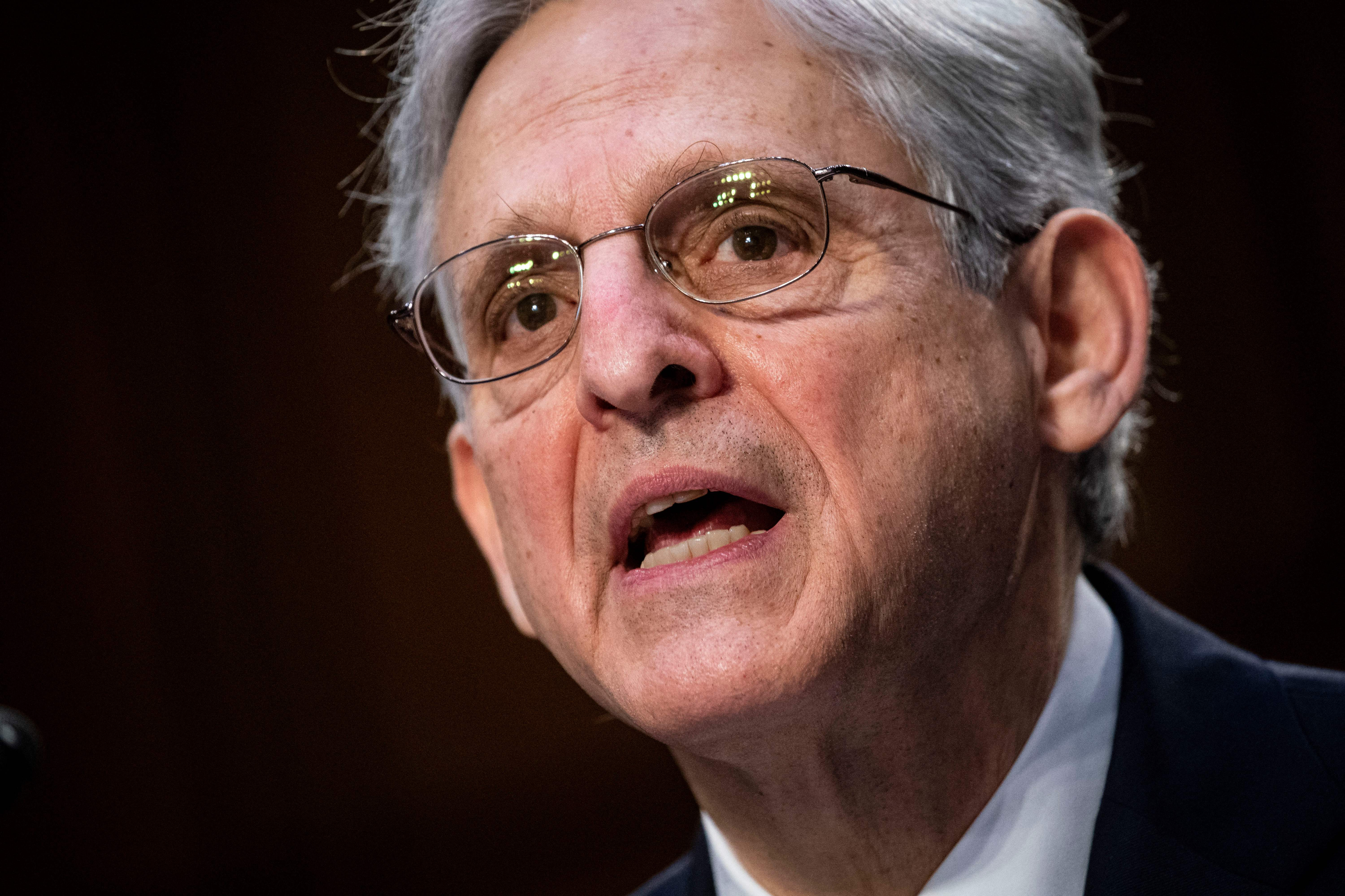 Attorney General Merrick Garland on Capitol Hill in Washington, D.C. (Photo by AL DRAGO/POOL/AFP via Getty Images)