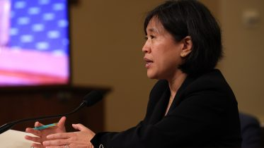 U.S. Trade Representative Katherine Tai speaks during a hearing with the House Ways and Means committee at Capitol Hill on May 13, 2021 in Washington DC. Tai took questions from members about President Biden's 2021 trade policy agenda. (Photo by Anna Moneymaker/Getty Images)