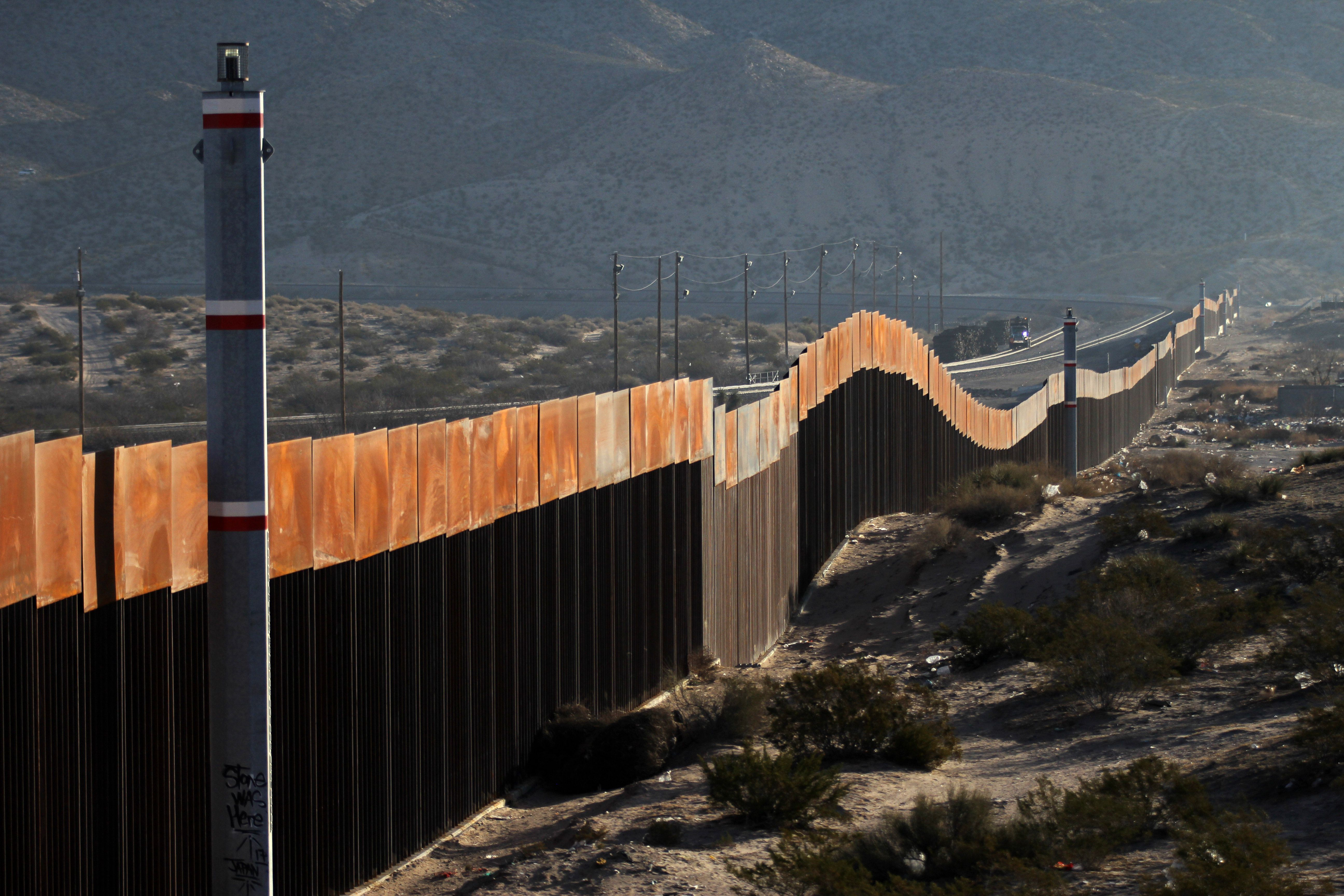 A view of the border wall between Mexico and the United States, in Ciudad Juarez, Chihuahua state, Mexico. (HERIKA MARTINEZ/AFP via Getty Images)