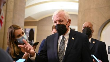 House Majority Leader Steny Hoyer, D-MD, after leaving the House Chamber in Washington, DC on October 12, 2021. (Photo by MANDEL NGAN / AFP) (Photo by MANDEL NGAN/AFP via Getty Images)