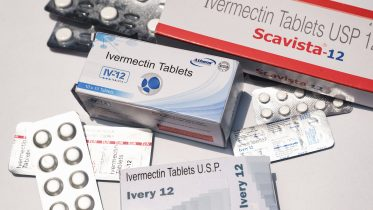 This picture shows the tablets of Ivermectin drugs in Tehatta, West Benga, India on 19 May on 2021. Some Indian state governments have plans to dose their populations with the anti-parasitic drug ivermectin to protect against severe COVID-19 infections as their hospitals are overrun with patients in critical condition. But, the World Health Organization (WHO) has warned against the use of this medicine in treating COVID-19 patients. (Photo by Soumyabrata Roy/NurPhoto via AP)