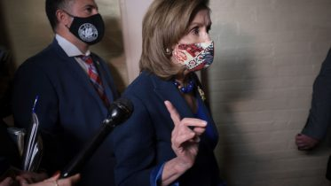 WASHINGTON, DC - OCTOBER 01: Speaker of the House Nancy Pelosi (D-CA) departs a Democratic caucus meeting at the U.S. Capitol October 1, 2021 in Washington, DC. The House is expected to try again today to vote on a $1 trillion infrastructure package as moderate and liberal wings of the Democratic party continue to wrestle with the combined infrastructure package and the $3.5 trillion social spending plan proposed by the Biden administration. (Photo by Win McNamee/Getty Images)