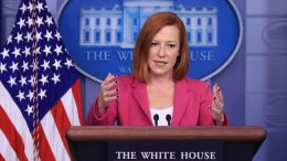 WASHINGTON, DC - OCTOBER 22: White House Press Secretary Jen Psaki talks to reporters in the Brady Press Briefing Room at the White House on October 22, 2021 in Washington, DC. Psaki fielded questions about U.S. policy toward Taiwan, the ongoing negotiations with Congress over the Build Back Better legislation, the Republican opposition to election reform, President Biden's upcoming trip to Europe and other topics. (Photo by Chip Somodevilla/Getty Images)