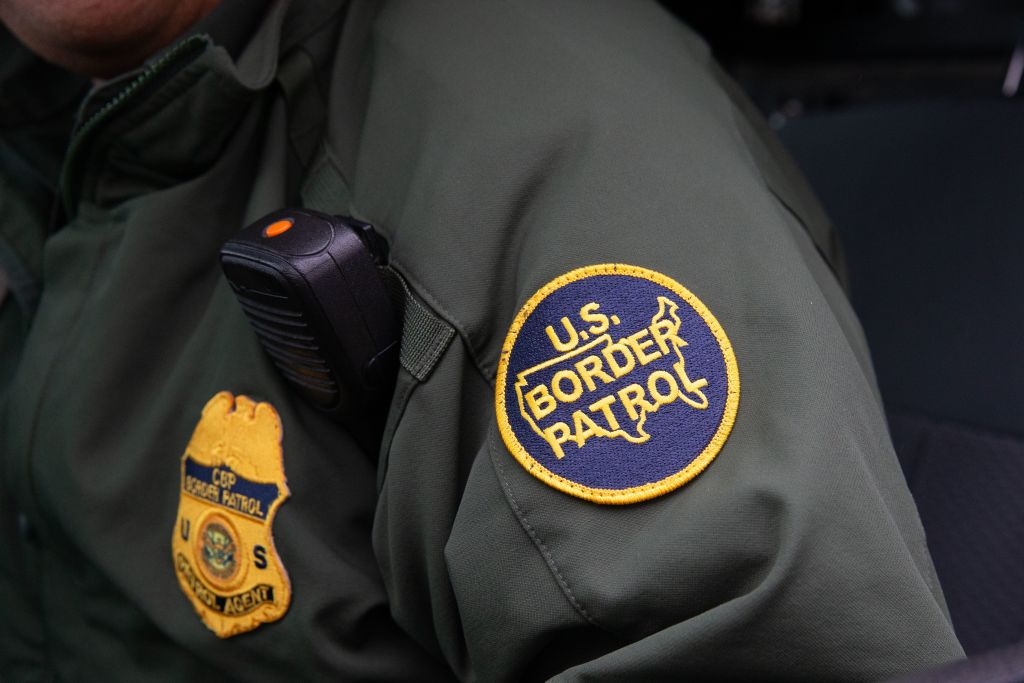 TOPSHOT - This photo shows a US Border Patrol patch on a border agent's uniform in McAllen, Texas, on January 15, 2019. (Photo by SUZANNE CORDEIRO / AFP) (Photo credit should read SUZANNE CORDEIRO/AFP via Getty Images)
