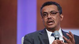 NEW YORK, NY - SEPTEMBER 29: Ethiopia Minister of Foreign Affairs Tedros Adhanom Ghebreyesus speaks on stage during the Unleashing Women's Economic Opportunites session during the 2015 Clinton Global Initiative at the Sheraton New York Times Square Hotel on September 29, 2015 in New York City. (Photo by JP Yim/Getty Images)