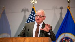 ST. PAUL, MN - APRIL 19: Minnesota Governor Tim Walz speaks during a press conference about public safety as the Derek Chauvin murder trial goes to jury deliberations on April 19, 2021 in St. Paul, Minnesota. Closing statements were heard today in the trial of the former Minneapolis Police officer who is charged with multiple counts of murder in the death of George Floyd. (Photo by Stephen Maturen/Getty Images)