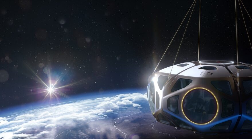 World View's Explorer Space Capsule will carry eight passengers and to crew to altitudes of about 30 kilometers, giving them high-altitude views of the Earth on flights lasting up to 12 hours. Credit: World View